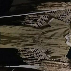 Vintage Lacoste button up dress